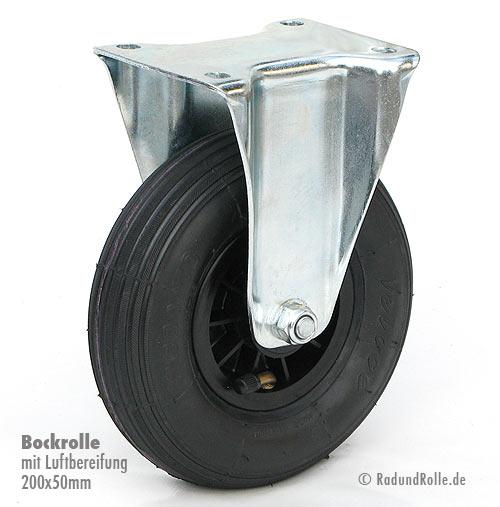 luft bockrolle 200x50mm mit kunststoff felge. Black Bedroom Furniture Sets. Home Design Ideas