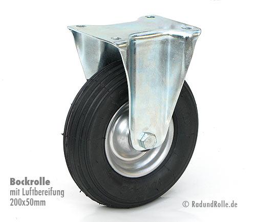 luft bockrolle 200 x 50 mm mit stahlfelge. Black Bedroom Furniture Sets. Home Design Ideas