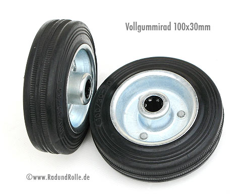 Vollgummirad 100 x 30 mm