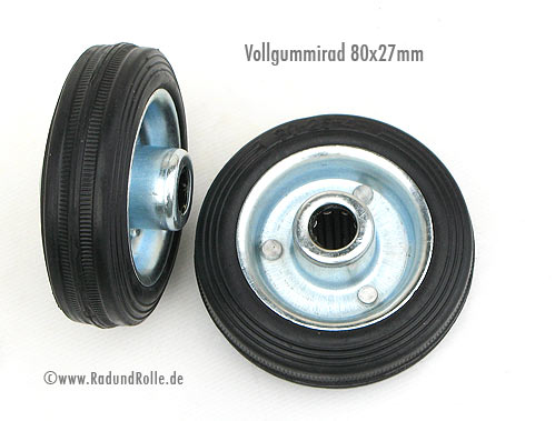 Vollgummirad 80 x 25mm