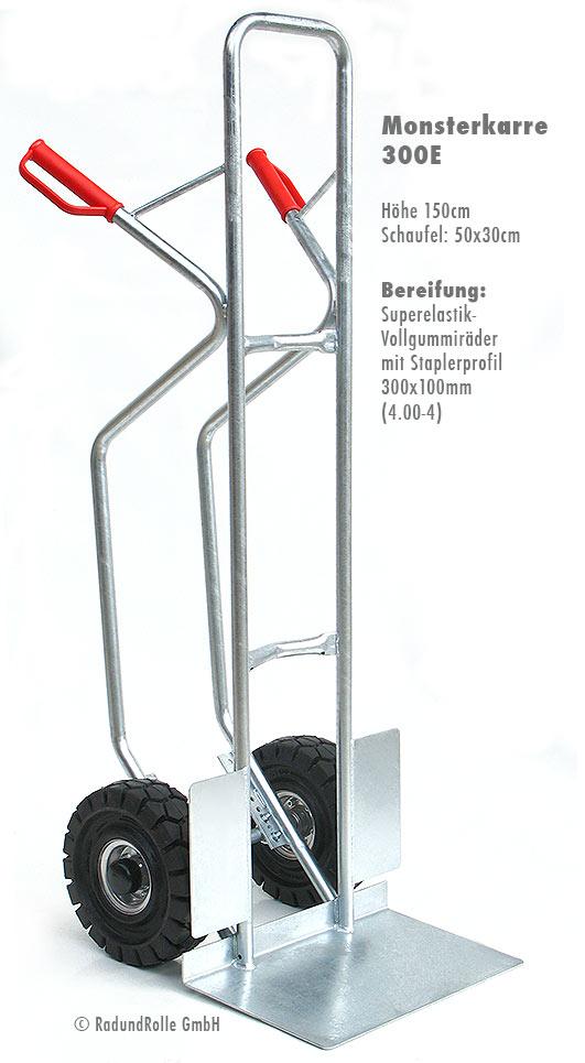 gro e stabile sackkarre aus verzinktem stahl mit superelastik vollgummir dern. Black Bedroom Furniture Sets. Home Design Ideas